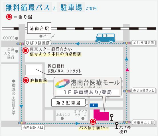 港南台医療モール地図